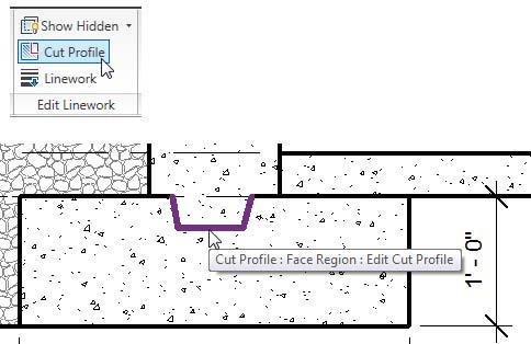 Utilice la opción Perfil de corte para modificar el contorno del perfil generado automáticamente