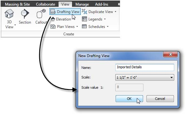 Crear una nueva Vista de diseño y escalarla.
